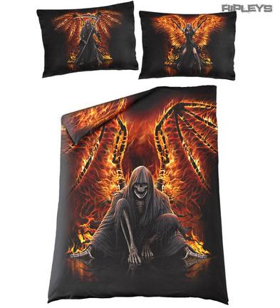 Spiral Direct BEDDING Single Duvet & Pillowcase FLAMING DEATH Reaper