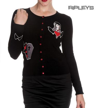 HELL BUNNY Ladies VAMPIRE Cardigan Top Black Gothic Bats All Sizes
