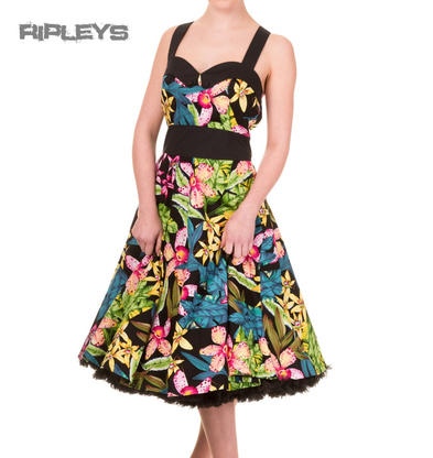 BANNED Rockabilly 50s Dress EVERLONG Tropical Hawaii Floral All Sizes