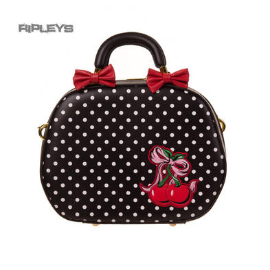 BANNED Clothing PVC Handbag Bows Cherries LUCILLE Bag Rockabilly Polka