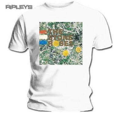 Official T Shirt THE STONE ROSES Original Album Cover White All Sizes