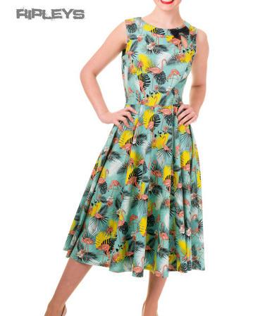 BANNED 50s Dress WONDERLUST Crane Summer BOW Blue All Sizes