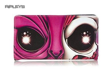 IRON FIST Pink Purple UFO Galaxy Alien Skull Wallet Purse