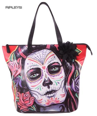IRON FIST Ladies Tote Bag ROSARITA Muerte Flower