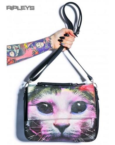 IRON FIST Ladies Hand Bag Purse SPACE CADET Galaxy Cat Kitten
