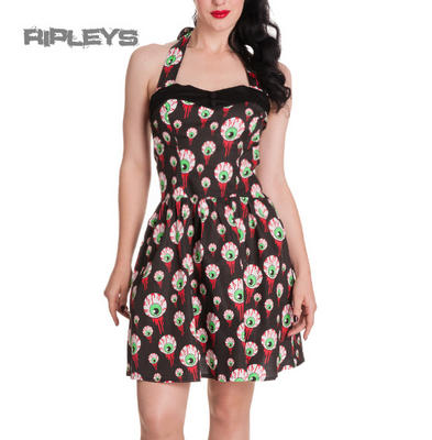 HELL BUNNY Goth Party Bloody EYEBALLS Perry Mini Dress All Sizes