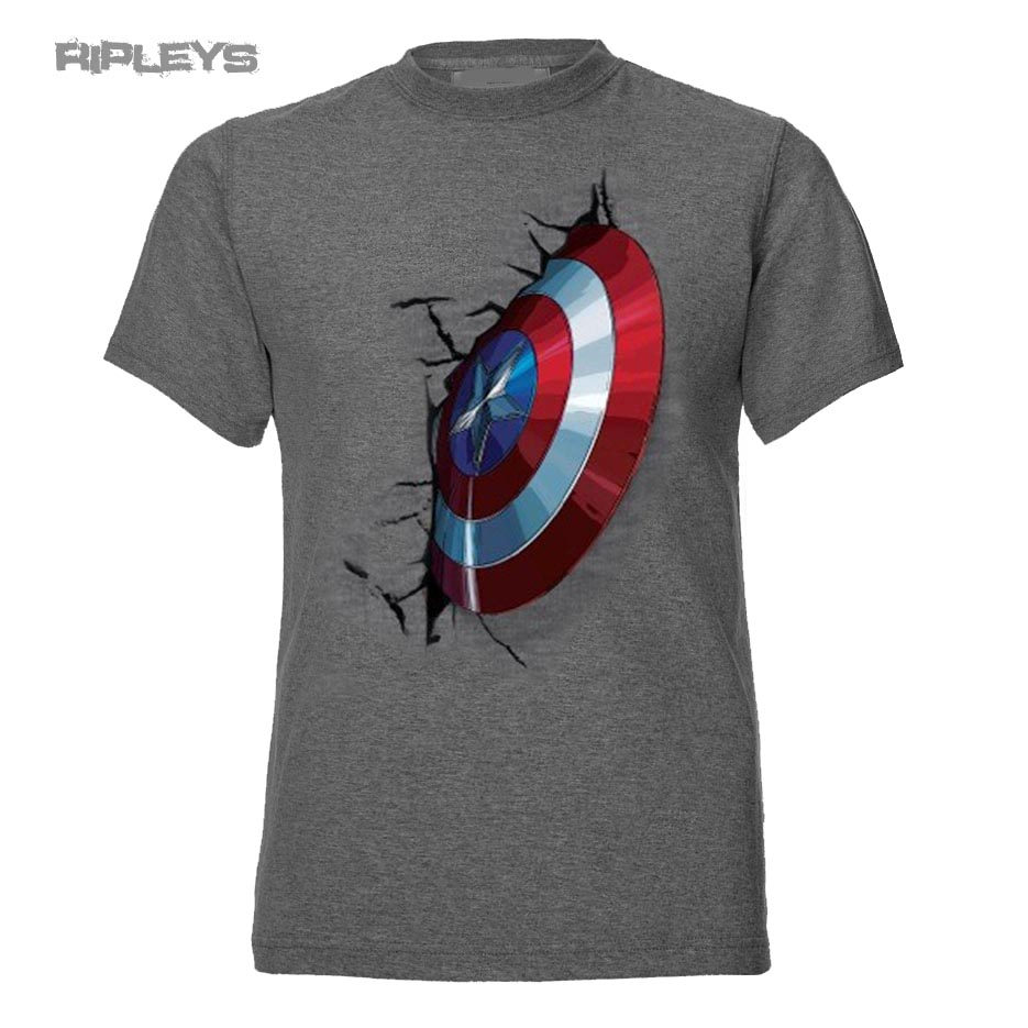 official t shirt marvel avengers embedded shield captain america all sizes ebay. Black Bedroom Furniture Sets. Home Design Ideas