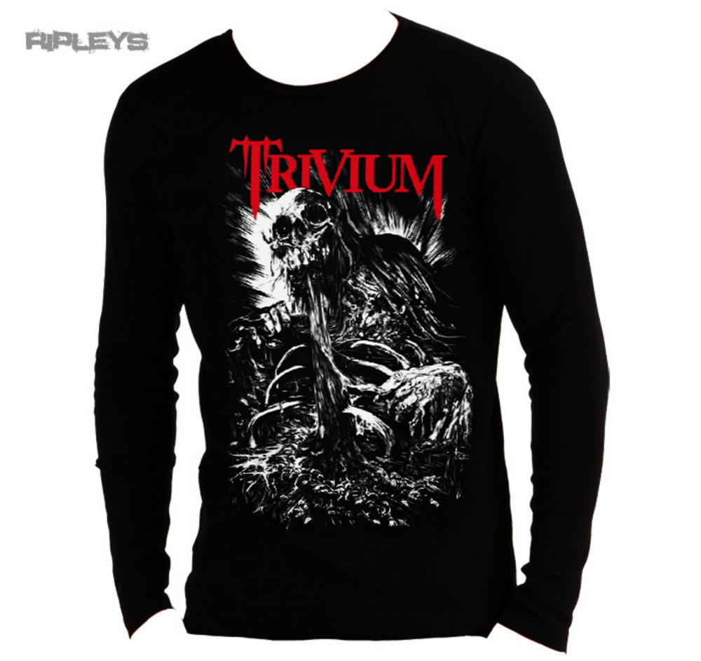 official unisex long sleeve t shirt trivium skull stake