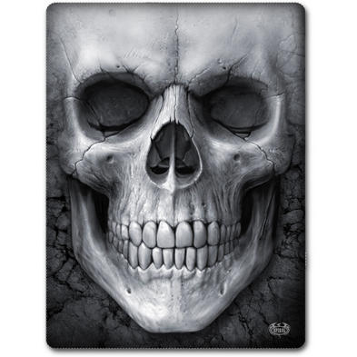 SPIRAL DIRECT Alternative Goth Black SOLEMN SKULL Fleece Blanket Gift
