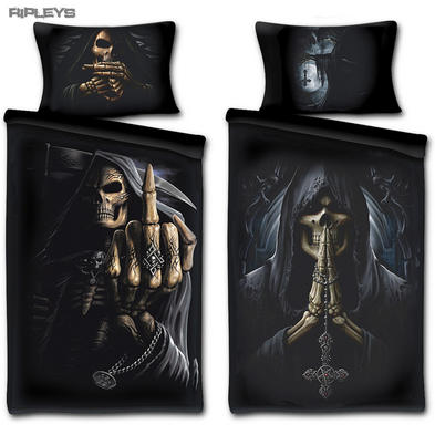 Spiral Direct BEDDING Single Duvet & Pillowcase DEATH PRAYER Reaper