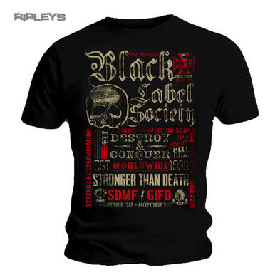Official T Shirt Black Label Society   DESTROY and Conquer All Sizes