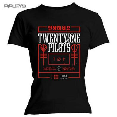 Official Ladies T Shirt 21 Twenty One Pilots   Busy Box All Sizes