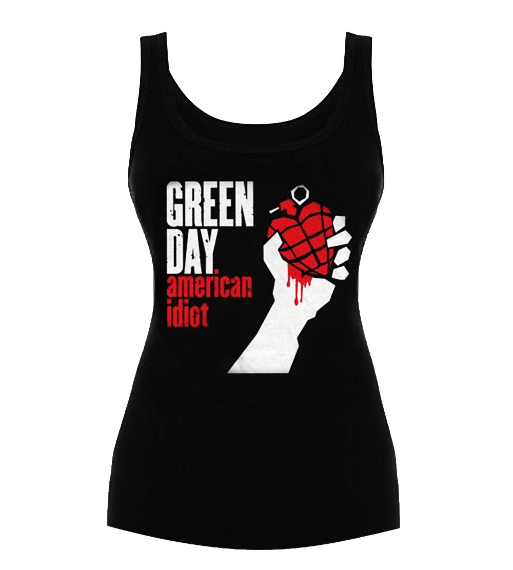 Official Ladies T Shirt Vest Top GREEN DAY   American Idiot All Sizes