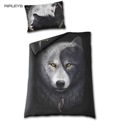 Spiral Direct BEDDING Single Duvet & Pillowcase WOLF CHI Yin Yang