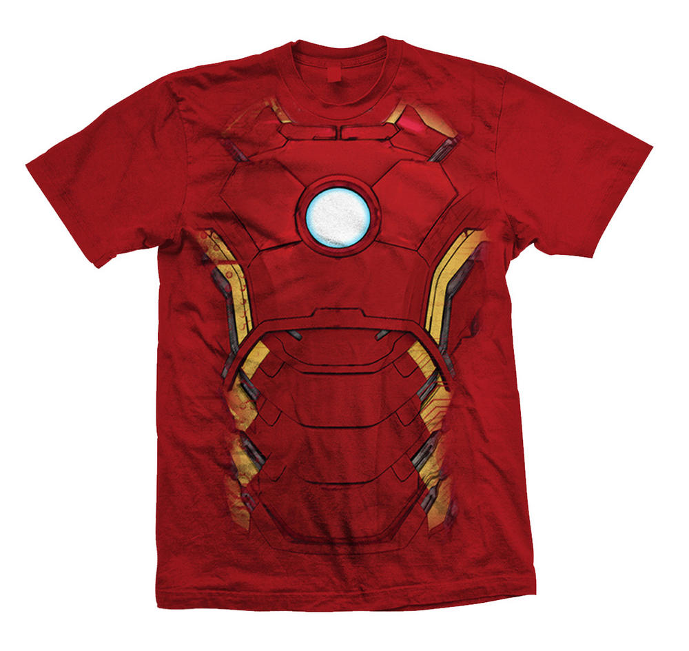 official t shirt the avengers iron man chest print marvel. Black Bedroom Furniture Sets. Home Design Ideas