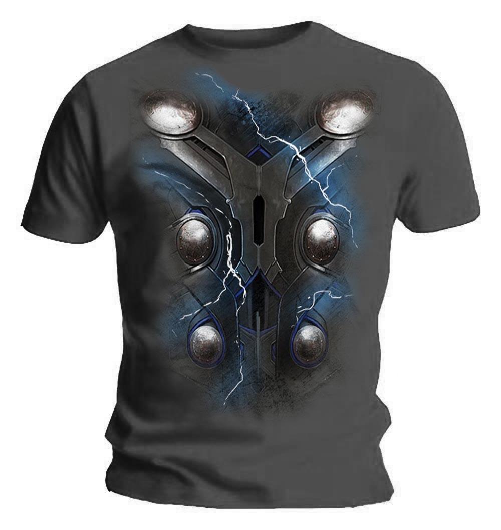 Official T Shirt THE AVENGERS THOR Chest Print Ragnarok Marvel All Sizes