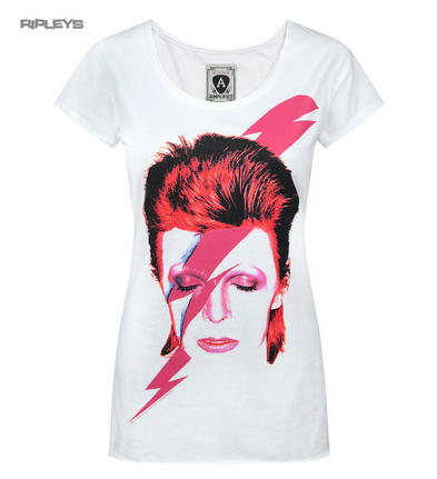 Official Amplified Skinny T Shirt David Bowie   Aladdin Sane Vintage All Sizes