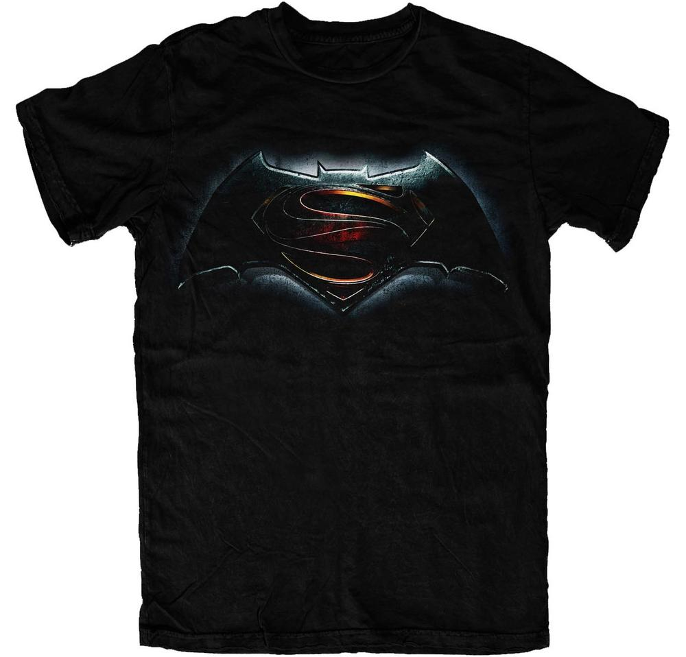 official t shirt batman vs superman dawn of justice logo. Black Bedroom Furniture Sets. Home Design Ideas