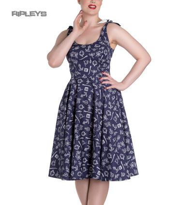 Hell Bunny Rockabilly MARIN 50s Dress Nautical Sailor ~ Navy Blue All Sizes