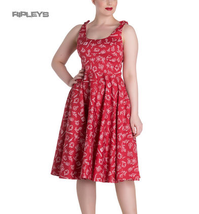 Hell Bunny Rockabilly MARIN 50s Dress Nautical Sailor ~ Red All Sizes