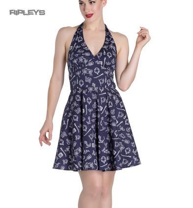 Hell Bunny Rockabilly Mini Dress MARIN Nautical Sailor ~ Navy Blue All Sizes