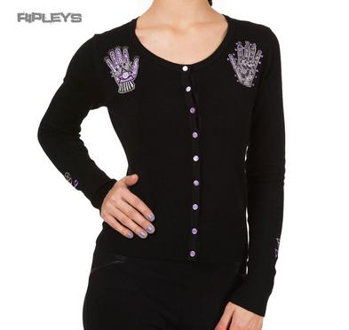 BANNED Black Goth Hamsa Hand INTRIGUING Cardigan Top All Sizes