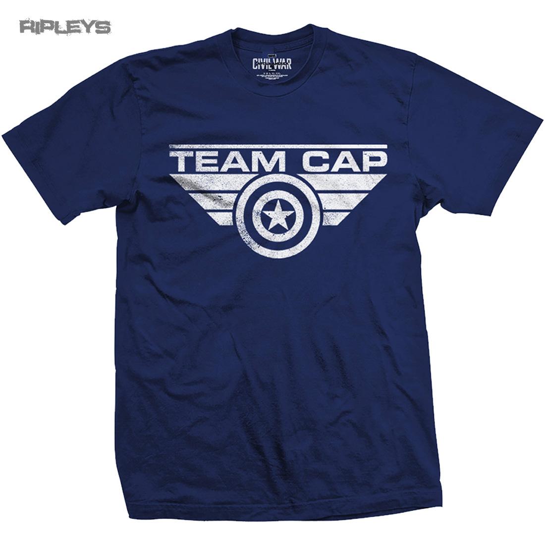 Official t shirt marvel captain america civil war team cap for Custom team t shirts