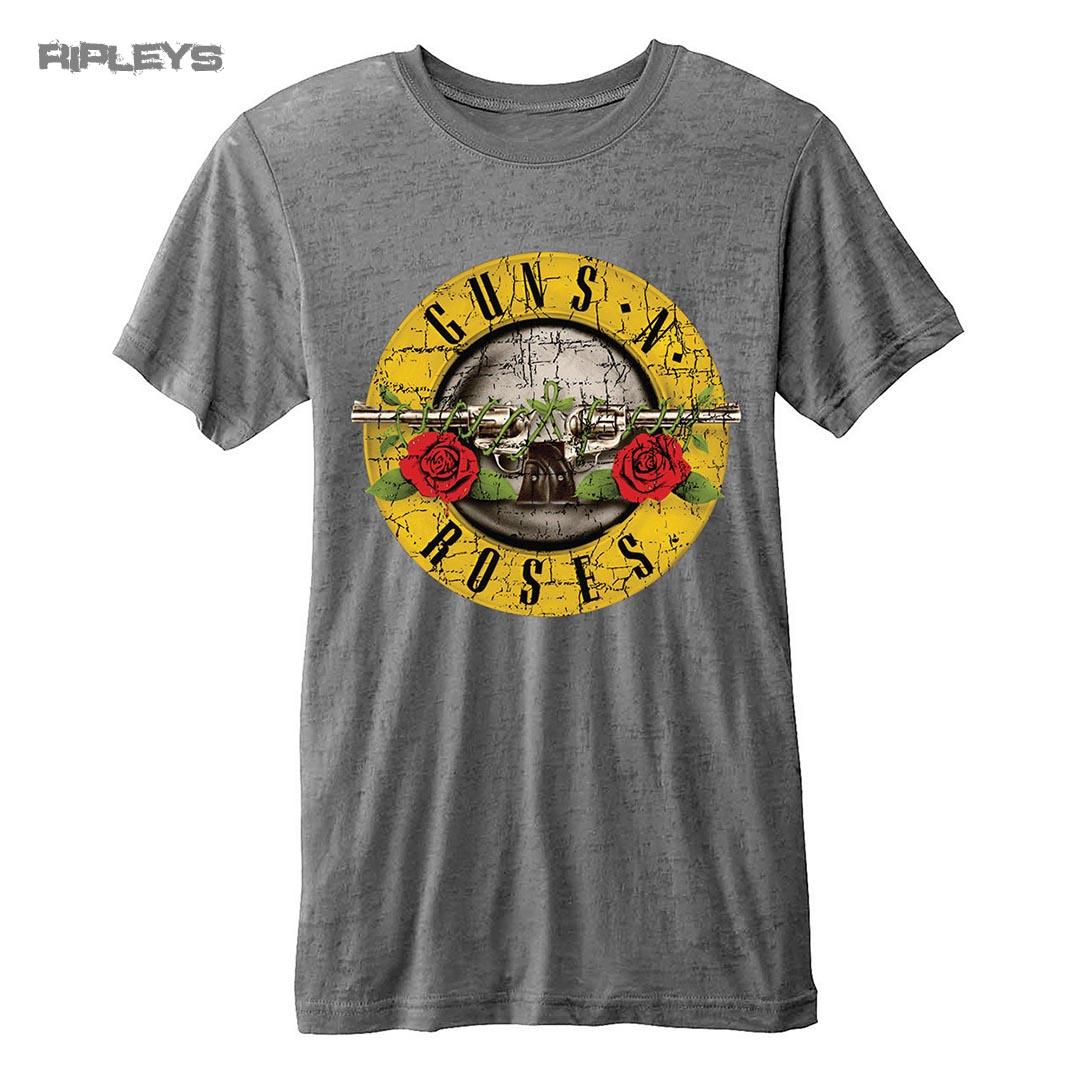 official t shirt guns n roses vintage distressed logo burnout all sizes ebay. Black Bedroom Furniture Sets. Home Design Ideas