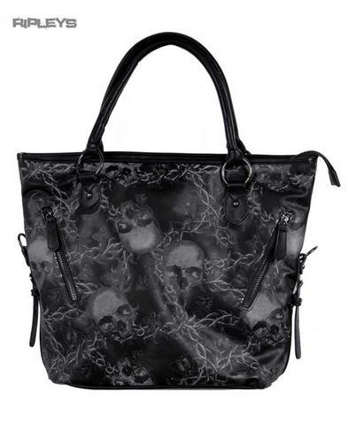 IRON FIST Ladies Tote Hand Bag URBAN DECAY Distressed Skulls PVC