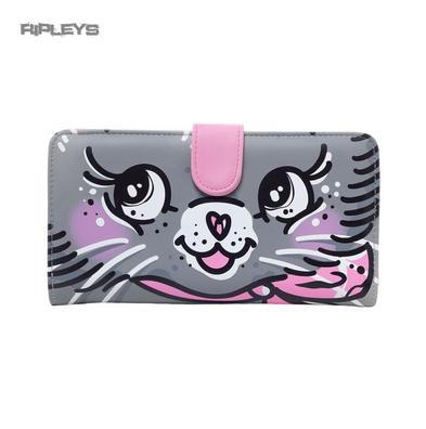 Iron Fist Gothic WALLET Purse ~ PUSSYCAT Pink/Grey Kitten Cute