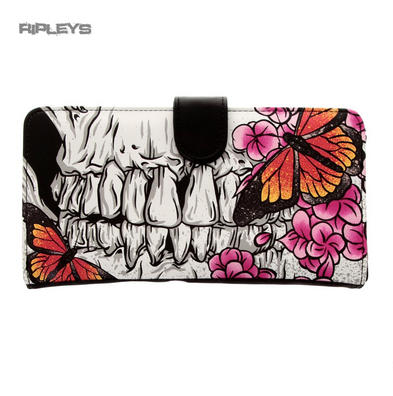 Iron Fist Gothic WALLET Purse ~ OUT OF CHAOS Butterfly Skull Flowers