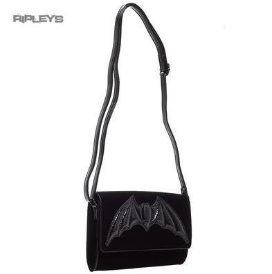 IRON FIST Ladies Goth/Bat/Vampire Black ~ Night Stalker CLUTCH Bag