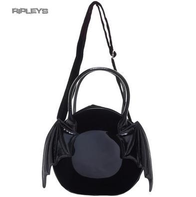 IRON FIST Ladies Goth/Bat/Vampire Black ~ Night Stalker HAND Bag