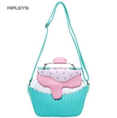 IRON FIST Ladies Mint Green/Pink Cupcake ~ BAKERS DOZEN Handbag
