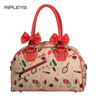 BANNED Clothing PVC Rockabilly Pin Up 50s Handbag Bows ~ New Romantics