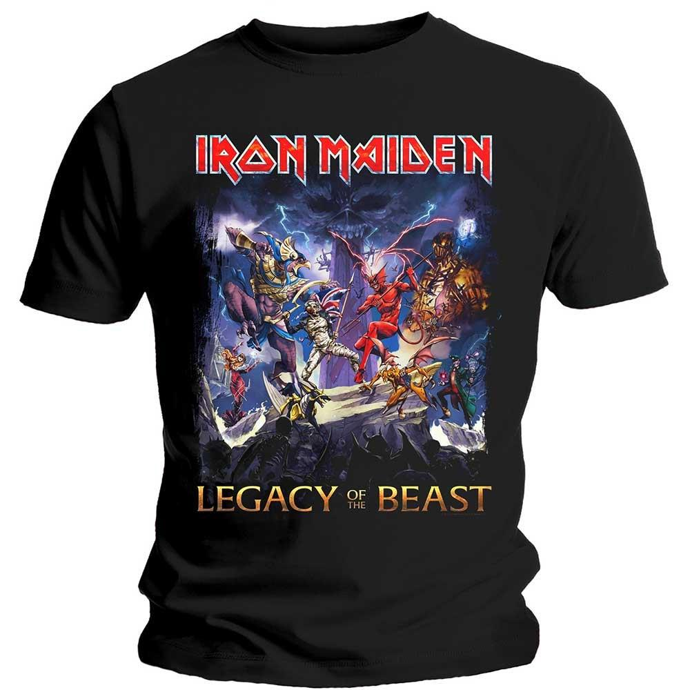 Official t shirt iron maiden legacy of the beast video for Game t shirts uk
