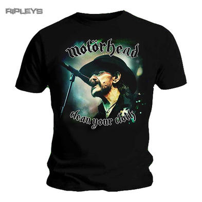 Official T Shirt MOTORHEAD Lemmy  COLOUR Clean Your Clock All Sizes