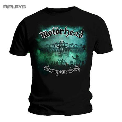 Official T Shirt MOTORHEAD Lemmy  GREEN Clean Your Clock All Sizes