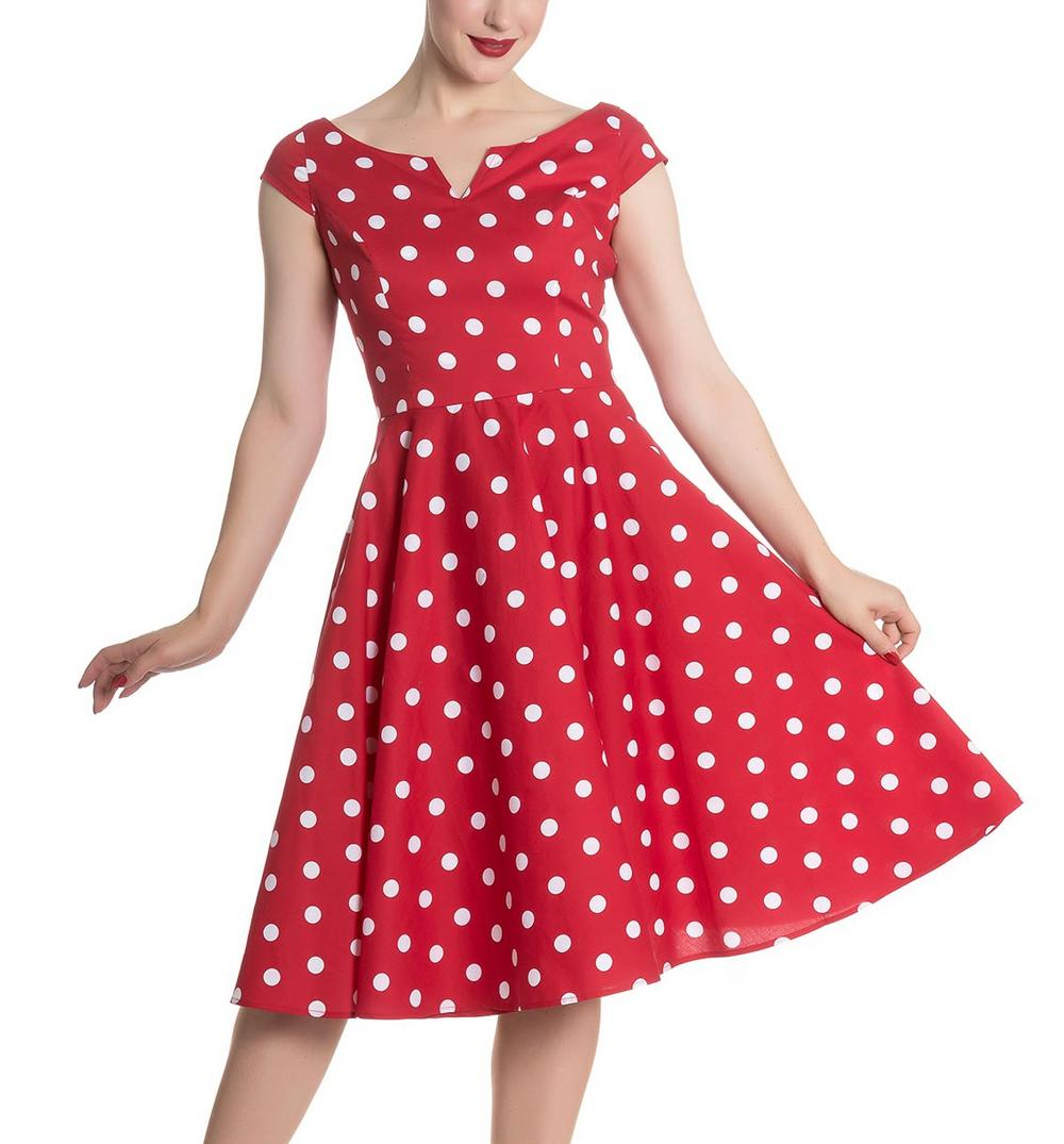 94065382a ... 20 30 Pin Up Vintage: Hell Bunny 50s Dress Polka Dot NICKY Pin Up  Rockabilly