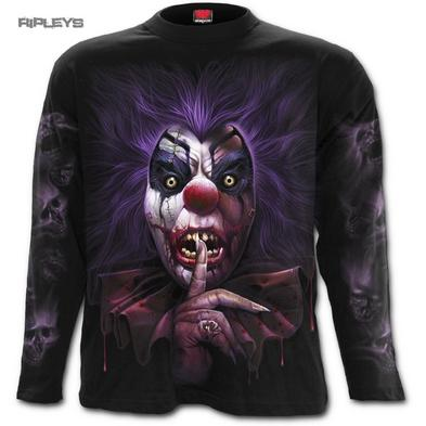 SPIRAL DIRECT Unisex L/Sleeve T Shirt MADCAP Evil Clown Gothic All Sizes