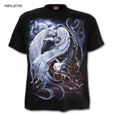 SPIRAL DIRECT Gothic T Shirt YIN YANG - ANGEL Demon All Sizes