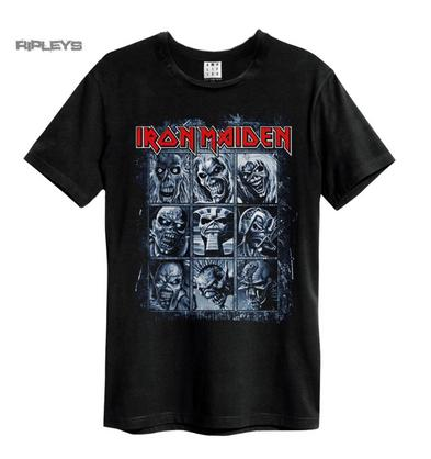 Official Amplified Black Vintage T Shirt IRON MAIDEN Nine Eddies All Sizes