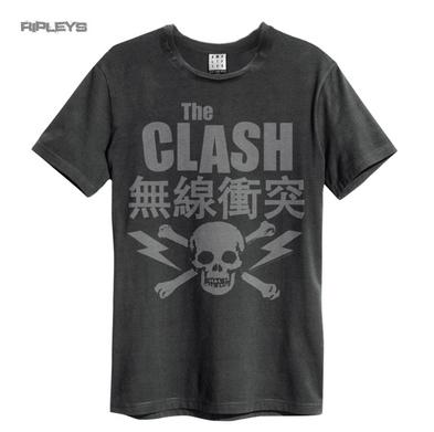 Official Amplified Unisex T Shirt THE CLASH Vintage Grey Punk Logo All Sizes