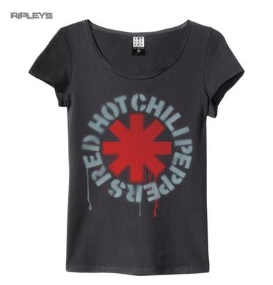 Official Amplified Skinny Vintage T Shirt Red Hot Chili Peppers Logo All Sizes