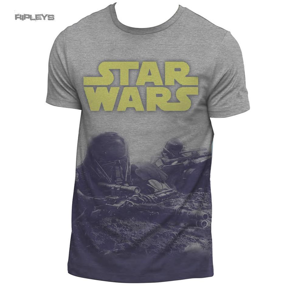 Official T Shirt Star Wars Rogue One Ground Battle