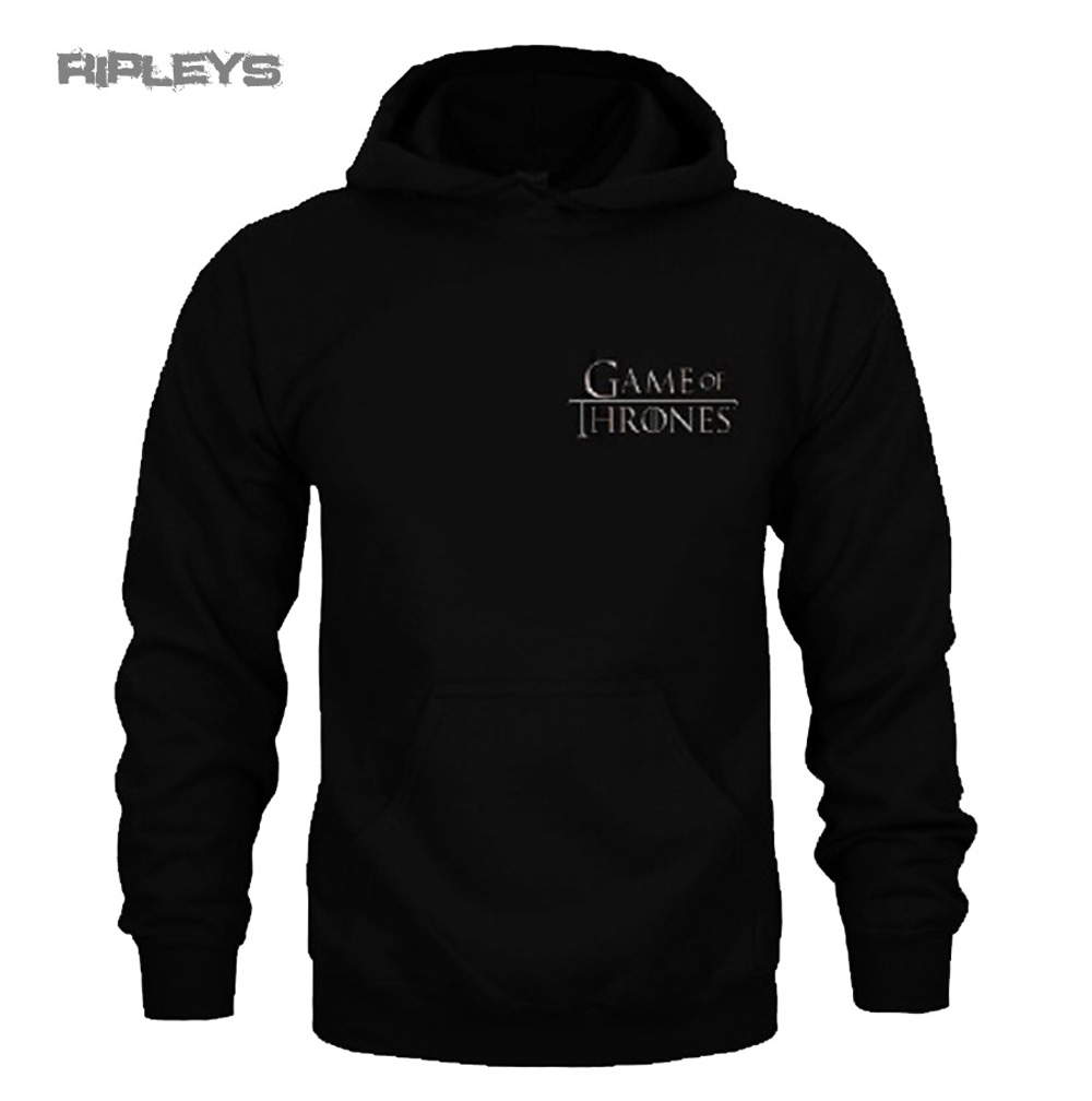 official game of thrones hoody houses black house stark. Black Bedroom Furniture Sets. Home Design Ideas