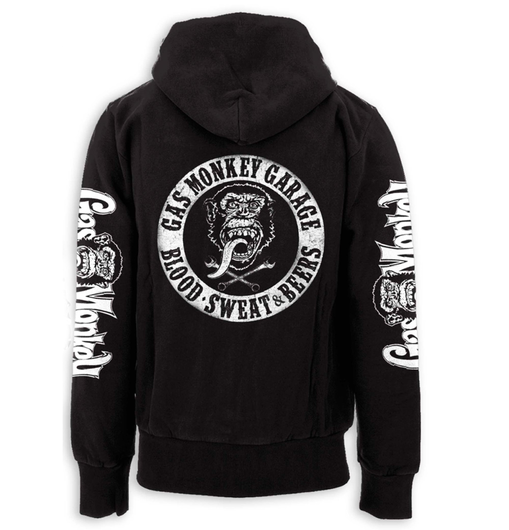 Official GMG Gas Monkey Garage Hoody Black/White BLOOD