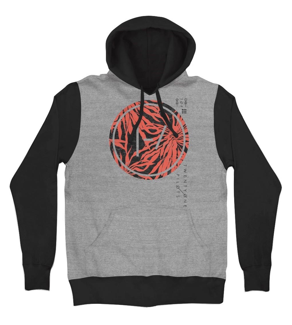 official twenty one pilots hoodie hoody palm dot grey. Black Bedroom Furniture Sets. Home Design Ideas