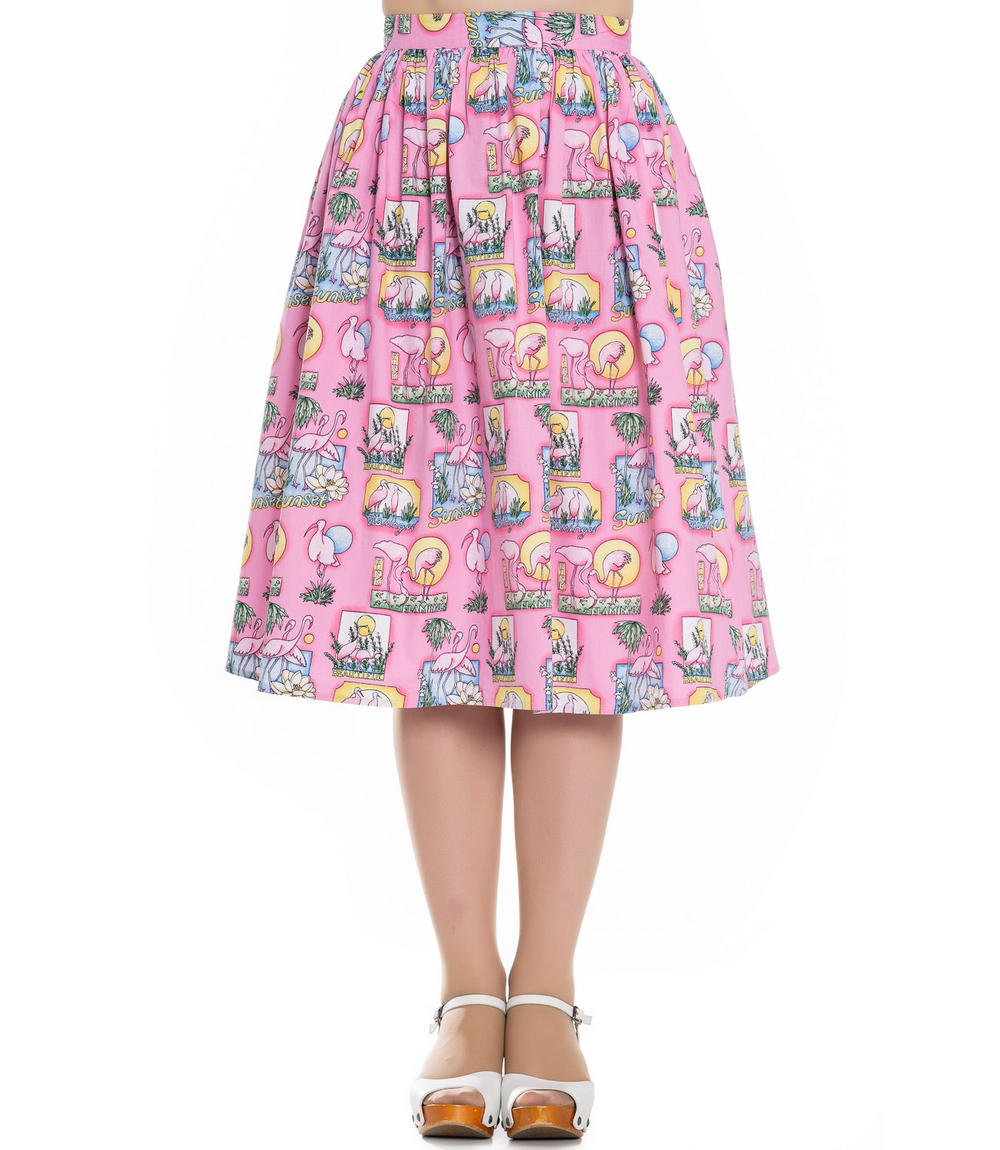 hell bunny vintage pin up rockabilly 50s skirt maxine pink
