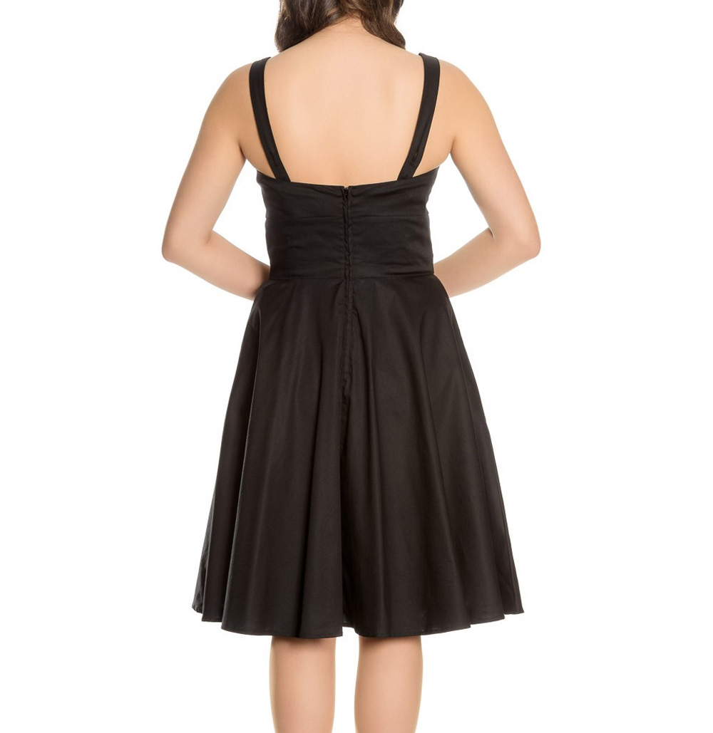 Hell Bunny Black 50s Pin Up Dress LULU Cherries Pink Flowers All Sizes